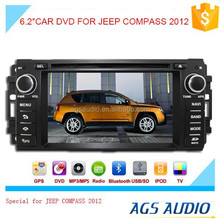 6.2 inch car dvd GPS navigation system for JEEP COMPASS 2012 with radio bluetooth ipod ,baekup camera