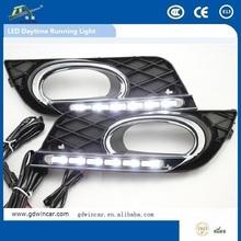high quanlity motorcycle car fog lamp for Honda Civic led daytime running light 2011-2014 led drl fog lamp for car