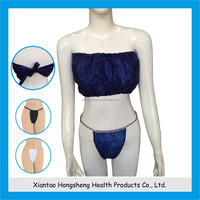 ladies sexy panty and bra sets,disposable bra,disposable nonwoven bra
