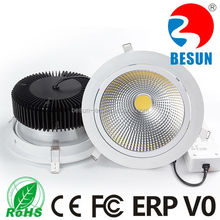 Meanwell driver ceramic PCB 50w cob led downlight with high lumen 5600-6400lm with IES files and test report