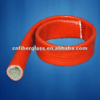 FD-SR101 silicone rubber coating fiberglass insulating sleeve for cable