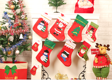 2016 In stock promotional cheap price non woven fabric Christmas stocking