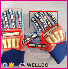 Custom Oil and gas safety glove with TPR patch impact protection