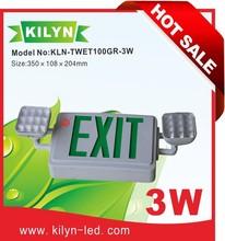 High quality UL listed Ni-Cd battery Twin head emergency lamp combo