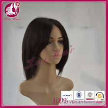 8-12in Straight Indian Wigs Human Hair Short Women Cut Bob Lace Front Wigs With Bangs Side Part Natural Hairline For Black Women