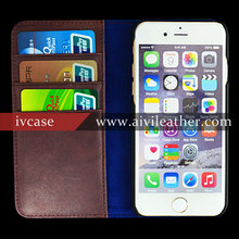 Italy premium leather cover for iPhone 6s plus wallet case,magnetic closure designer 5.5 inch smartphone book case