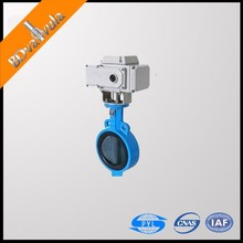 Electric wafer cast iron butterfly valve DN80 PN10 PN16 PN25