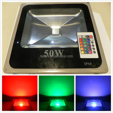 High brightness 3500lm outdoor ip66 garden decorative color changing rgb 50w led projector lamp