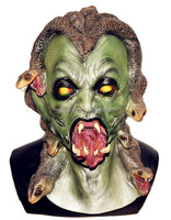 2015 Hot Selling Huizhou Realistic latex Horror halloween costume for Horror Medusa Mask