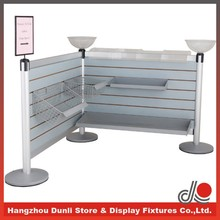 Supermarket/hospital/restaurant display stand queue management system with slatwall/aluminum post/E1 grade MDF board