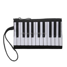 Black and White Piano Keys Clutch Coin Wallets & magic wallet with zip coin pocket