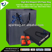 hight extremo pequeño y elegante reciclado de papel kraft bolsas de papel
