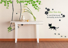 Wholesales wall decal cute cats and swing wall sticker home decoration