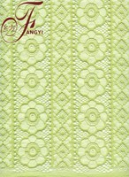 Hot Sale Beautiful Green Heavy Flower Cotton Nylon Lace Bulk Lace Applications