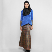 2016 high quality new design Chiffon Baju Kurung hotsale muslim dress abaya with hijab