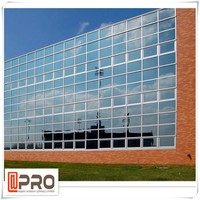 New product reflective glass wall glass curtain for China manufacturer