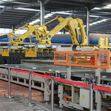 The application of robot palletizing machine in many types of brick production line