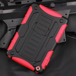 2015 Manufacturer Wholesale for ipad mini Armor Impact Skin Holster Protector Combo Case cover, for iPad Mini Mini 2 Mini 3 air