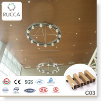 Assembling Ceiling 3b ,40x25mm + Ceiling Keel 2015 Factory Price Foshan Rucca WPC Wood Composite False Ceiling for Interior