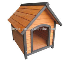 Wooden Dog Kennel with A-frame Roof / Outdoor Wood Dog House