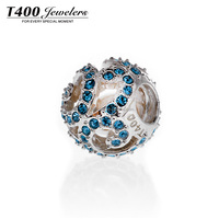T400 Wholesales Charms 925 sterling Silver crystal from swarovski elements Bracelet Charms Q002