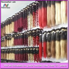 New Products On China Market Natural Color No Chemical Processed Straight aplique de cabelo