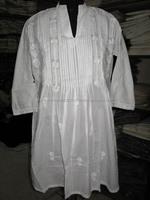 Wedding Wear Designer Long White Kurti Tunic