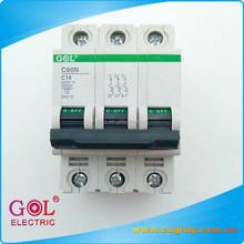 C60 ZheJiang Wholesale Resin 3P 63A circuit breaker manufacturer