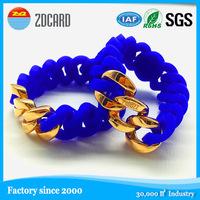 RUBBZZ silicone stainless NFC wristband/fashion nfc bracelet