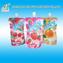 2015 Hot Sale Plastic Standing Juice / Water Spout Pouches
