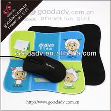 Precisa Hemming Mouse Pad pura tela de caucho Natural Mouse Pad