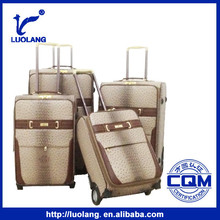 High quality fashionable carry on PU trolley travel luggage bags
