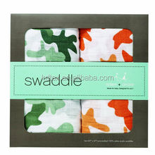 """Muslin Baby Wrap Blanket Swaddle Diaper 100% Organic Cotton Super Soft 47x47\"""" After Washed"""