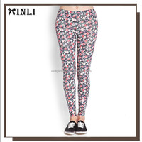 Floral Sexy Girls Wearing Colourful Women Wholesale White Cotton Tight Woman Jogging Pants Colorful Yoga Pants Silk