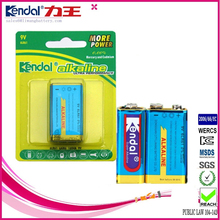 6LR61 Super Alkaline 9V Battery High quality dry cell from China