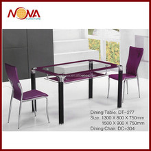 Noble design the purple tempered glass dining table on sale