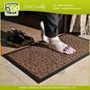 Rubber border entrance plain anti slip green carpet