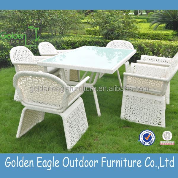 Flower Weaving Rattan High End Garden Furniture Wicker Patio Leisure Dining T