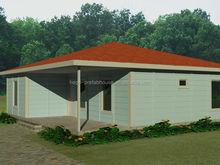 steel grill design house, modern prefab villa
