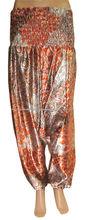 ropa casual de seda harén 2014 pantalones pantalones para las mujeres