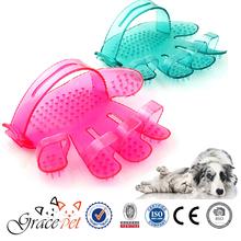 Beauty hair/wool fleas delousing five finger adjustable dog brush
