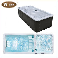 5800mm Balboa combo freestanding acrylic whirlpool massage rectangular outdoor above ground swimming pool designs for sale