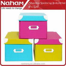 NAHAM Candy colors Printed Paper Foldable Decor Cardboard Gift Box