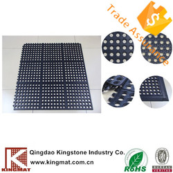 Commercial rubber mat used for shop/ workshop /kitchen/resturant /ships /boats/fitnessroom/playground/grass/truck