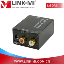 LINK-MI/OEM LM-DA01 Coaxial/Toslink digital analog audio RCA to RCA converter for Amplifier