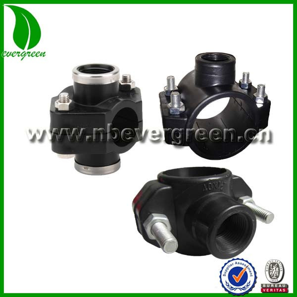 Hdpe pipe fitting saddle clamp buy plastic