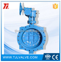 double eccentric type butterfly butterfly valves dn250 din13/14 ansi flange valve