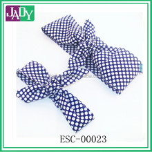 Mommy and Me Head Scarfs Set of 2 Head Scarfs Blue with White Polka Dots Women Baby Headband