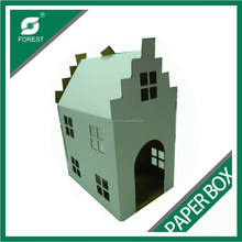 CUSTOM CARDBOARD CAT PLAY HOUSE PET TOY HOUSE FOR SALE