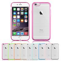 Transparent Soft Gel TPU Bumper Hard Back Case For Apple iPhone 6s Plus